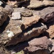 Details of volcanic tufa rhyolite rocks — Stock Photo