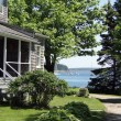 Stock Photo: Classic white New England House,