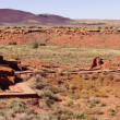 Panorama, Wupatki pueblo ruins — Stock Photo