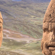 Stock Photo: Colossal heads of Hercules and Antiochus