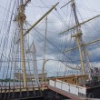 Labor Day brings tourists to explore 19th century sailing s — стоковое фото #36747141