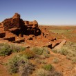 Wupatki pueblo ruins — Stock Photo