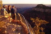 Tourists enjoy the sunset from Imperial Point — Stock Photo
