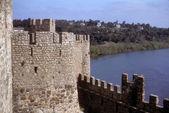 Středověké zdi hradu — Stock fotografie
