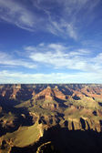 Late afternoon view into the Colorado River gorge — Stock Photo
