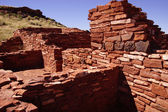 Detail, stone wall of ancient pueblo house, — Stock Photo