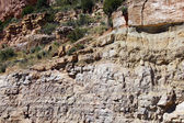 Detail, geological layers of sedimentary rock — Stock Photo