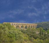 Pont du gard römisches aquädukt — Stockfoto