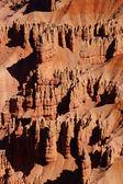 细节,石峰和红色的纳瓦霍砂岩峰林 — 图库照片