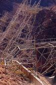 高电压电力线路从胡佛水坝 — 图库照片
