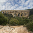 Pont du Gard Roman aqueduct — Stock Photo