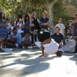 Hip-Hop breakdancers compete in pairs, — Stock Photo #37678517