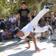 Hip-Hop breakdancers compete in pairs, — Stock Photo #37678529