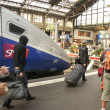 Stock Photo: Passengers arrive at Gare de Lyon
