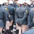 Stock Photo: Female transit police watching parade