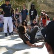 Hip-Hop breakdancers compete in pairs, — Stock Photo #37847765
