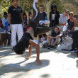 Hip-Hop breakdancers compete in pairs, — Stock Photo #37847771