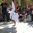 Hip-Hop breakdancers compete in pairs, — Stock Photo #37916063