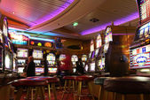 Casino on cruise ship — Foto de Stock