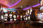 Casino on cruise ship — Stock Photo