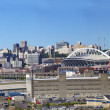 Panorama - Seattle waterfront skyline — Stock Photo