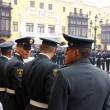 Police watching a parade, Lima, Peru, South America — Стоковое фото