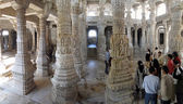 Indian visitors tour the Jain temple — Stock Photo