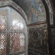 Stock Photo: Intricate marble filigree screen