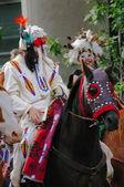Plains Indian on horseback — Foto Stock