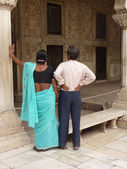 Indian tourists visit the Red Fort — Foto de Stock