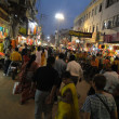 Стоковое фото: Peoeple gather on ghats in cool evening