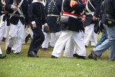 Detalle, tropas de la Unión marcha — Foto de Stock