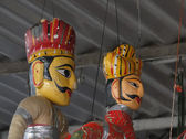 Puppets and marionettes of Rajput princes — Stock Photo