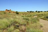 Ruins of houses of the Lomaki Pueblo — Foto de Stock