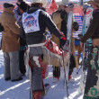 Stock Photo: Cowboys preparing for 40th Annual Cowboy Downhill Race