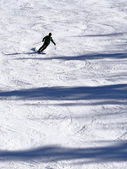 Silhouette of skier — Stock Photo