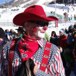 Stock Photo: Rodeo clown at 40th Annual Cowboy Downhill