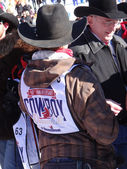Cowboys visit with friends and fans — Foto de Stock