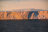 Pôr do sol com iceberg tabular — Foto Stock
