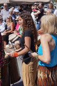 The Okanagan Drum group performs — Stock Photo
