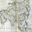 Antique map of Asia — Stock Photo