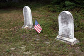 Old tombstones from 19th century  — Stock Photo