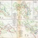 Постер, плакат: Map of battles of the Wilderness Spotsylvania and North Anna 1