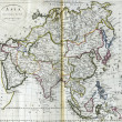 Antique map of Asia from 18th century — Stock Photo