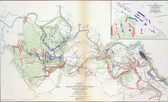 Map of battles of Chancellorsville and Fredericksburg, 1863 — Stock Photo