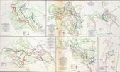 Map of battles of the Wilderness, Spotsylvania and North Anna, 1 — Stock Photo