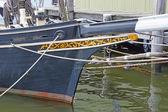 19 世紀の釣りのスクーナー船のバウスプリット — ストック写真