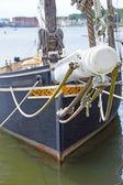 Boegspriet van 19e eeuw visserij schoener — Stockfoto