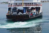 Car ferry crosses the Dardanelles — Stock Photo