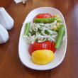 Постер, плакат: Turkish salad of onions tomatoes and green peppers
